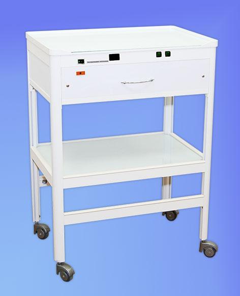 21421 - Столик с 1 ящиком с УФ-облучателем и блоком управления